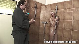 10:35: Horny Blonde StepDaughter Fucks Wet Dad And Lover. Ha