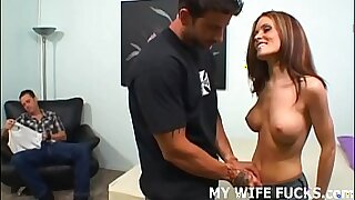 15:02: Hot redhead lesbian with nice ass bounces on cock