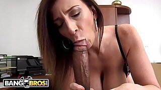 12:43: Large Black Cock with an amazing Busty MILF