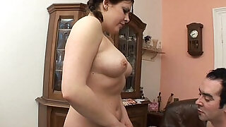 10:00: Chubby Stepdaughter In Pigtails Fucked By Her Stepdad