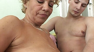 27:00: Big ass chubby granny doing old and young girl with naughty horny stepson