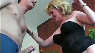5:00: Granny whore loves them young