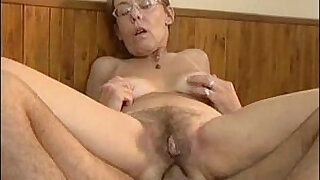 5:00: Old granny gets fucked by hard in her hairy ass