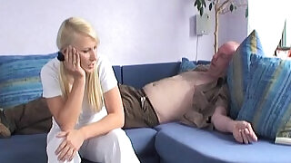 23:00: Blond Girl Fucks Best Friends Daddy at her Place