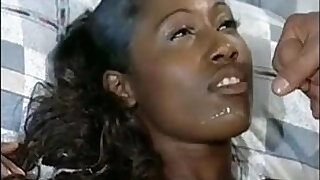 11:00: African model in a sexy interracial blowbang hardcore