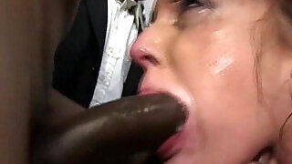 6:00: Poor girl sucks members of the crowd of blacks and swallow thewallow their sperm