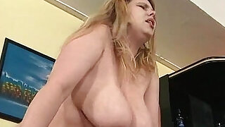 27:00: Two guys fuck one BBW slut in her tight