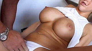 Sexy blonde babe Eve Laurence take a big cock - 8:00