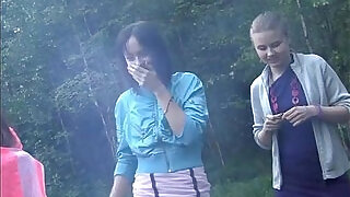 7:00: Russian students staged an orgy in the woods