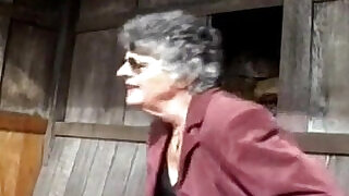 Granny Steph and the Gardener, Free Porn Video - 6:00