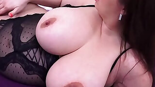 Pregnant Sirale Slowly Strips and Fucks Her Hot Pussy! - 5:00