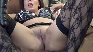 9:00: Nicky ferrari hot milf black stockings