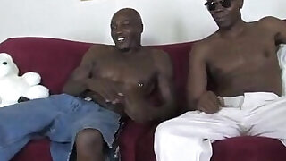5:00: Blonde in sexy bitch with big black guys
