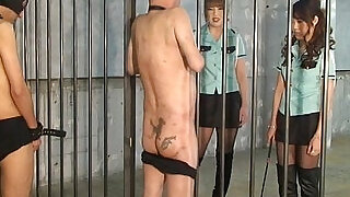 Japanese mistress whipping and foot worship - 1:01