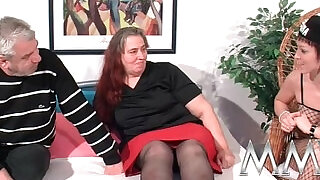MMV Films German slut helping out a fat mature busty hot wife to orgasm - 13:00