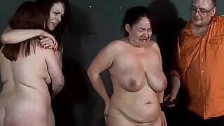 Three slavegirls whipping and extreme punishment to tears of amateur slavesluts - 5:00