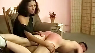 5:00: Angry MILF spanking lover