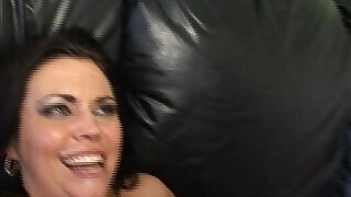 Big dick dude butt fucked by a BBW with a strap - 26:00
