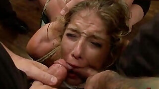 15:00: Bound in public groped and fucked