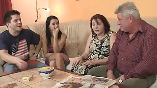 He finds his GF fucking his family - 6:00