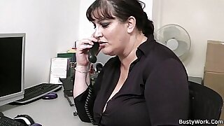 My BBW colleague gives perfect blowjob in the office video - 6:57