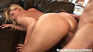 Awesome blonde with big tits and pierced pussy herself - 12:49